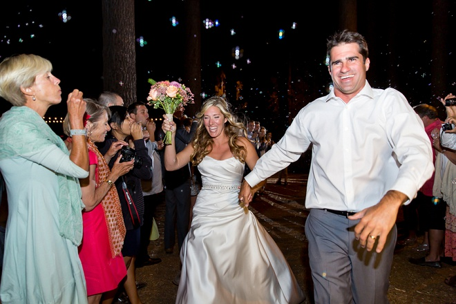 We love this fun sparkler exit!