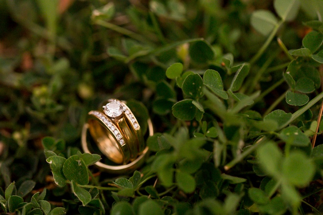 Gorgeous ring shot for this DIY Tahoe City wedding!