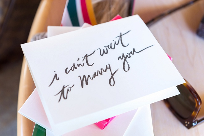 We're loving this wedding day card from the bride!