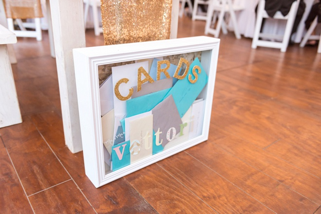 Love this fun wedding card holder!