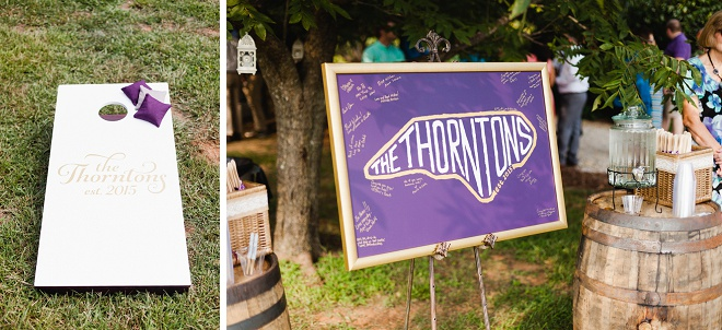 We love this adorable details at this DIY wedding!