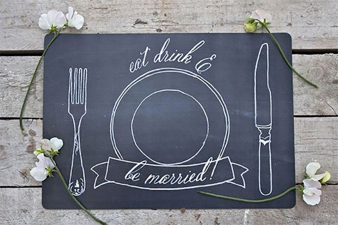 free printable wedding placemat