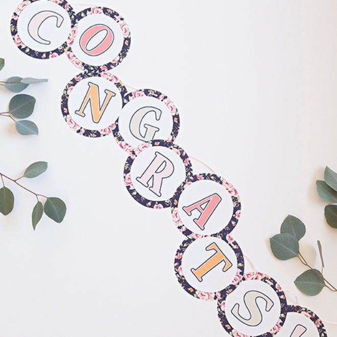 photograph regarding Printable Alphabet Banner identified as No cost Printable, Floral Style and design Alphabet and Amount Banner!