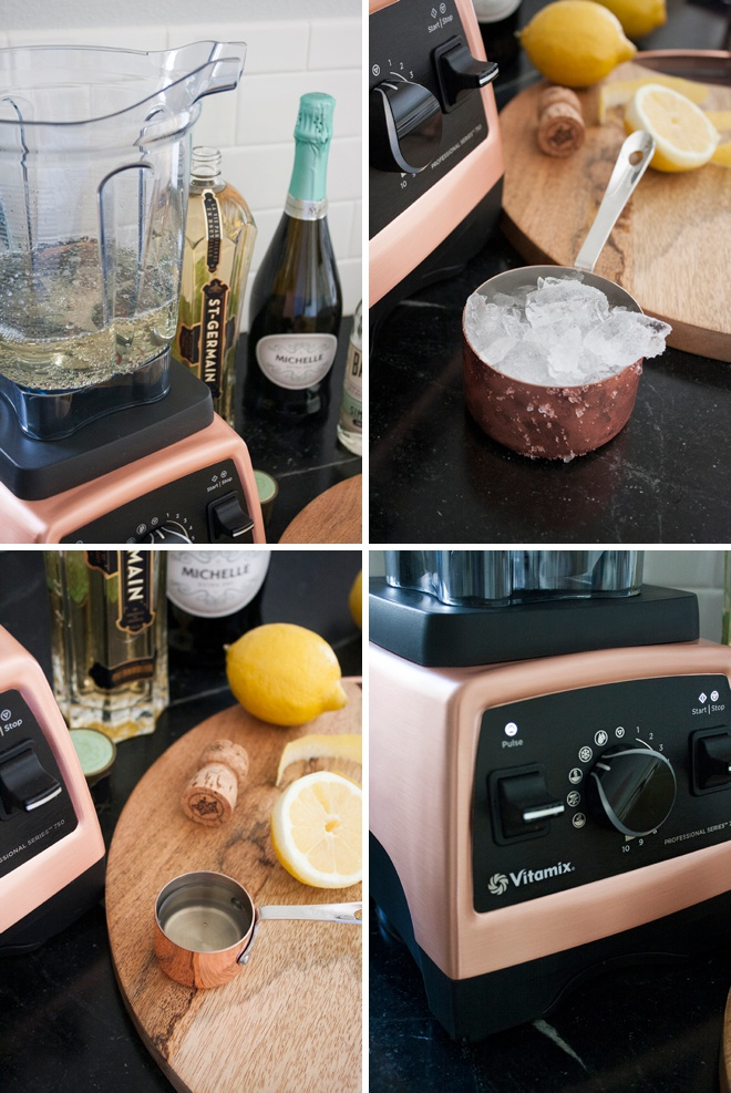 How to make a delicious frozen French 77 cocktail with Vitamix!