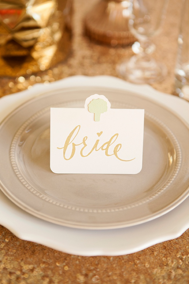 the cutest diy entree choice seating cards ever
