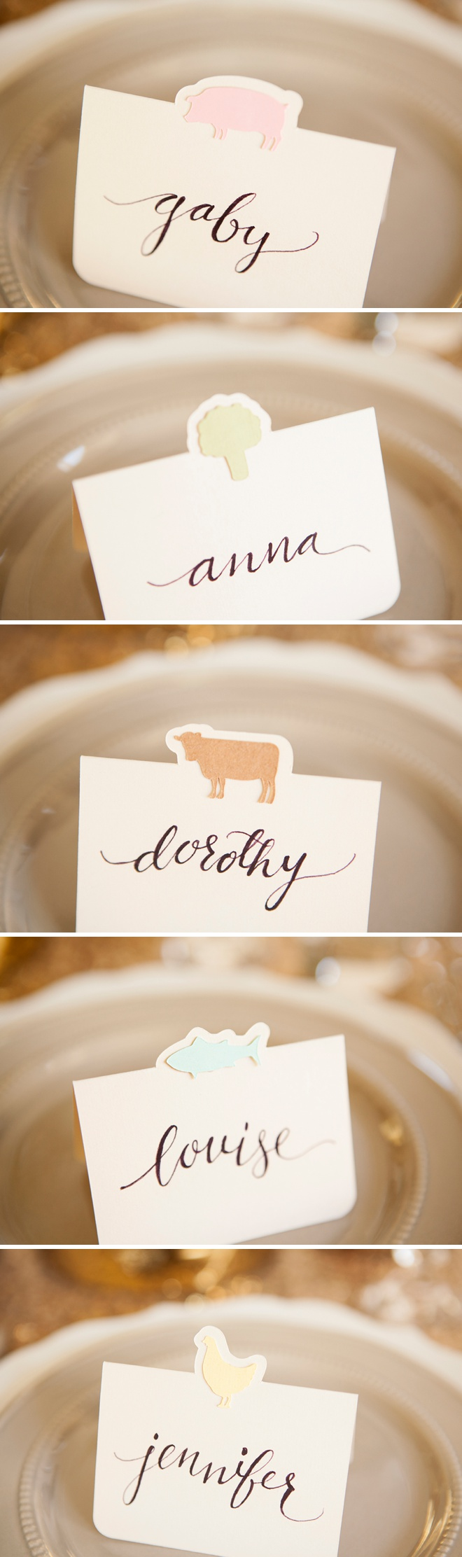 The cutest diy entree choice seating cards ever darling diy idea for wedding seating cards with each guests choice of entre free cricut solutioingenieria Images