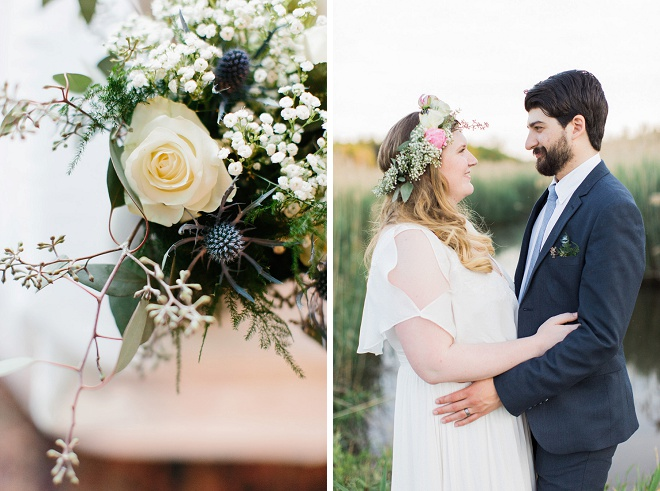 We love this gorgeous vintage boho wedding and its darling flowers!