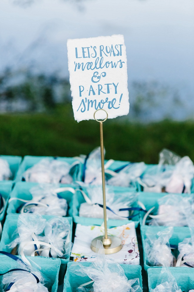 How darling is this wedding smore bar?!
