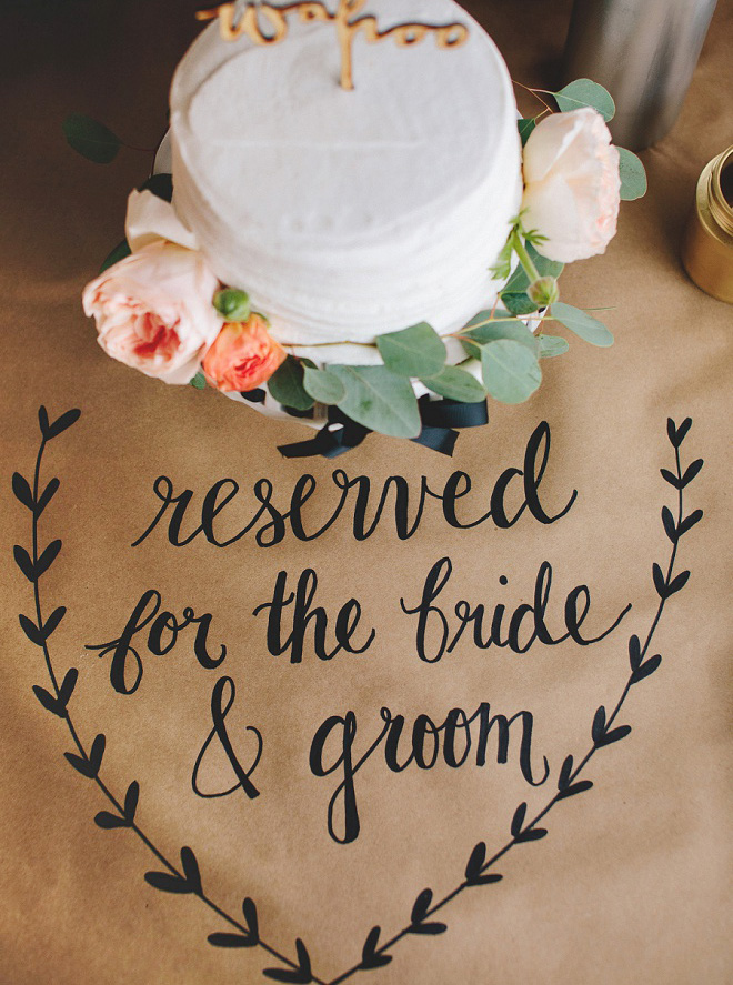 Awesome Diy Idea For Using A Sharpie On Kraft Paper Wedding Signage And Decor