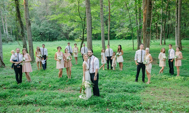 We're loving this fun wedding party shot!
