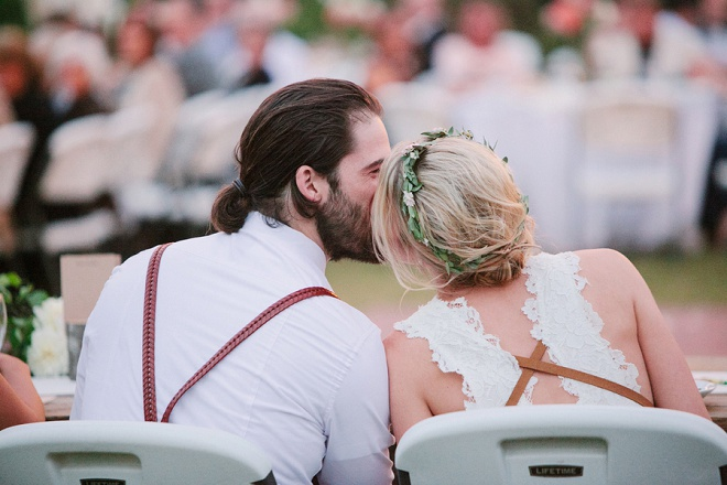 We love this darling couple and their backyard wedding!