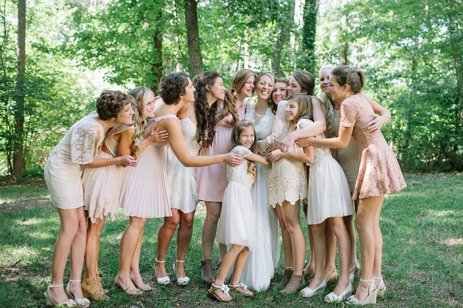 We love this fun shot of this Bride and her Bridesmaids!