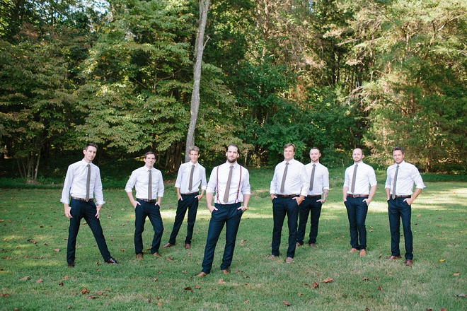 We love this fun Groom and Groomsmen shot!