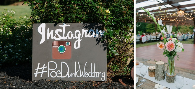 How fun is this handpainted Instagram wedding sign? Love!