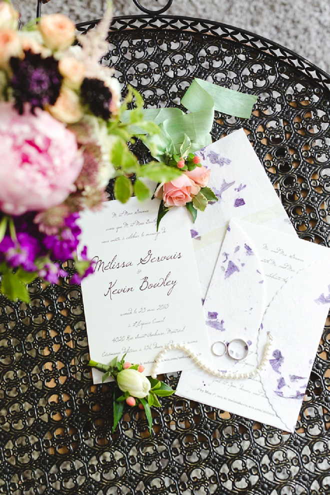 How darling are this invitations?! The Bride and Groom DIY'd them!