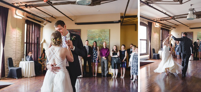 We're swooning over this sweet and fun first dance!