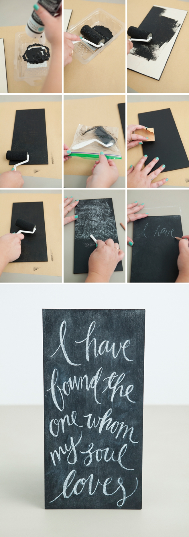 How to make anything a chalkboard surface the RIGHT way!