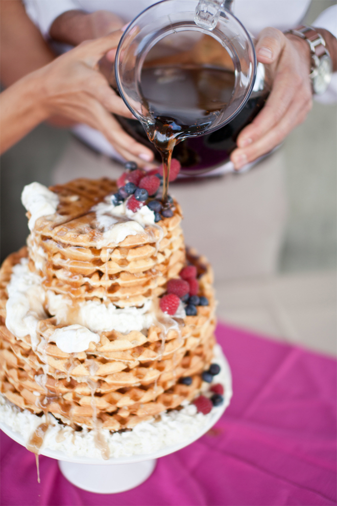 Wedding Brunch Waffel Cake