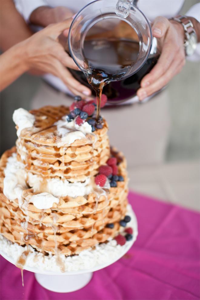 Wedding Brunch Waffel Cake
