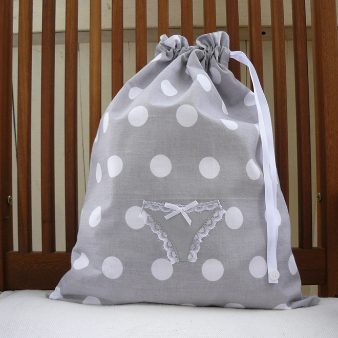 Darling polka dot Lingerie Bag by AniaSews