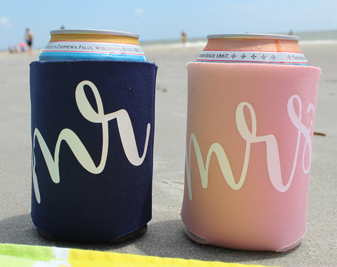 Mr + Mrs Can Cooler Set by Romantic Southern