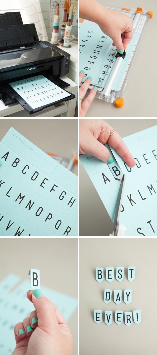 Adorable Free Printable Mini Alphabet Banner