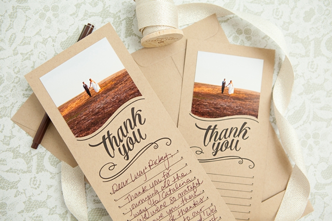 Make These Darling Free Printable Photo Thank You Cards