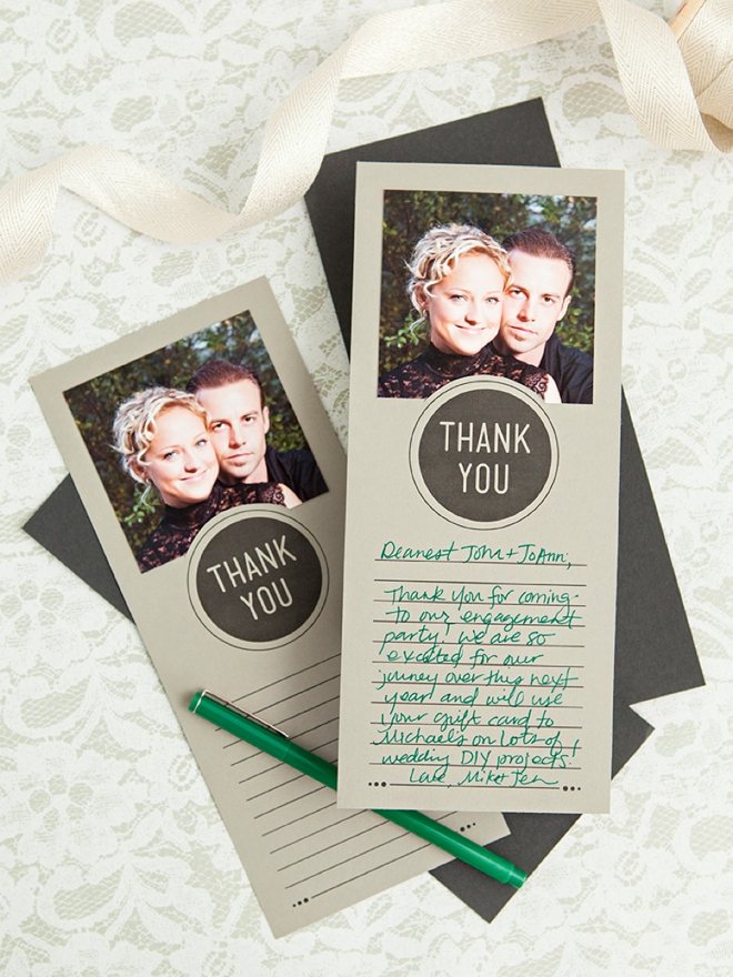 Make These Darling, FREE Printable Photo Thank You Cards!