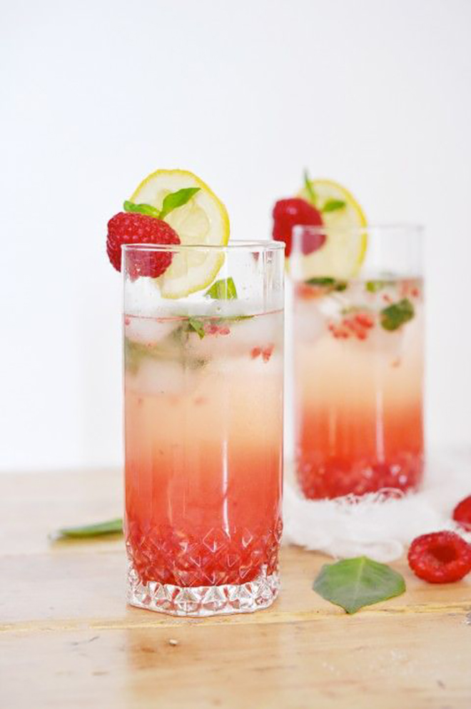 Awesome Raspberry Champagne Cooler Recipe
