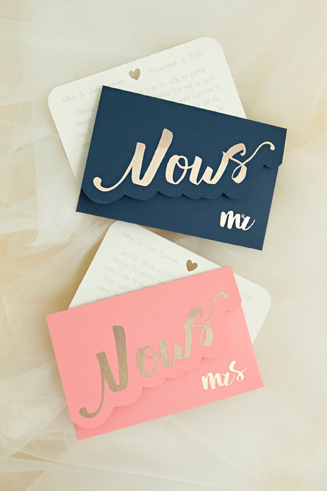 Darling DIY idea for custom wedding vow notebooks!Darling DIY idea for custom wedding vow notebooks!