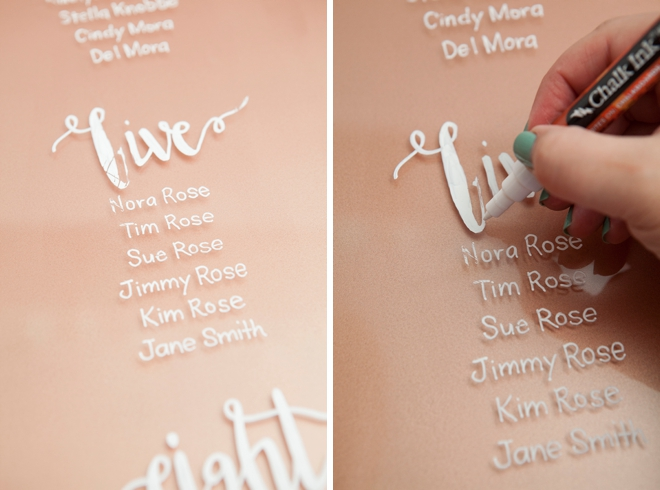 The Most Awesome Hand Lettered Acrylic Wedding Sign