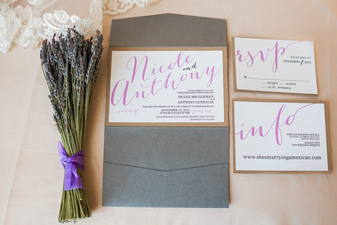 Loving the lavender and darling invite details!