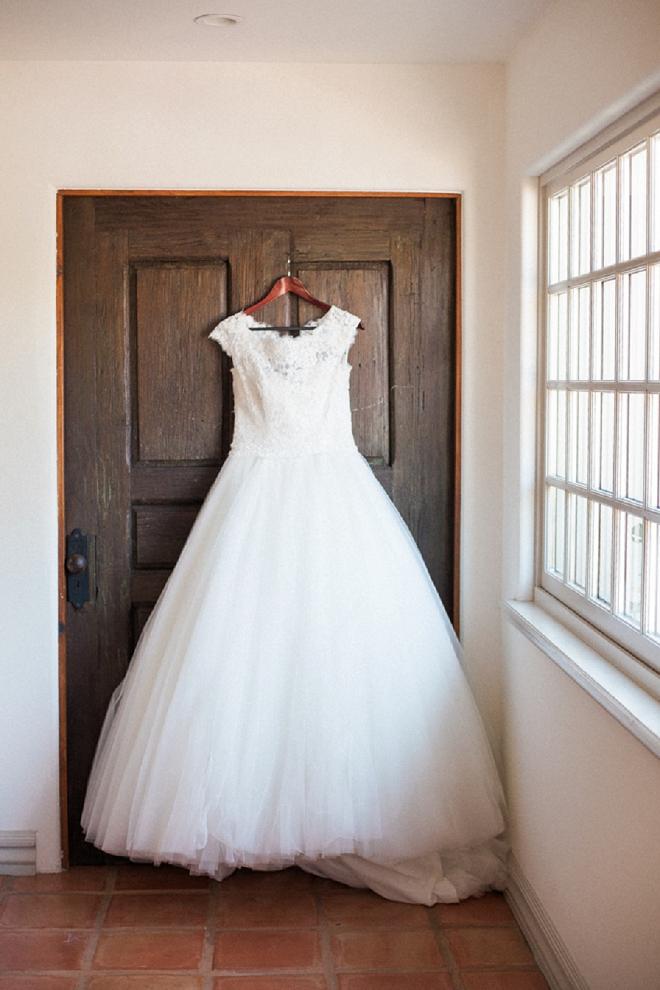 Loving this classic wedding dress for this DIY bride!