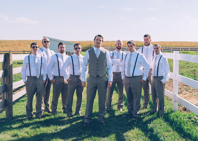 Loving this photo of the Groom and his handsome Groomsmen before the big day!