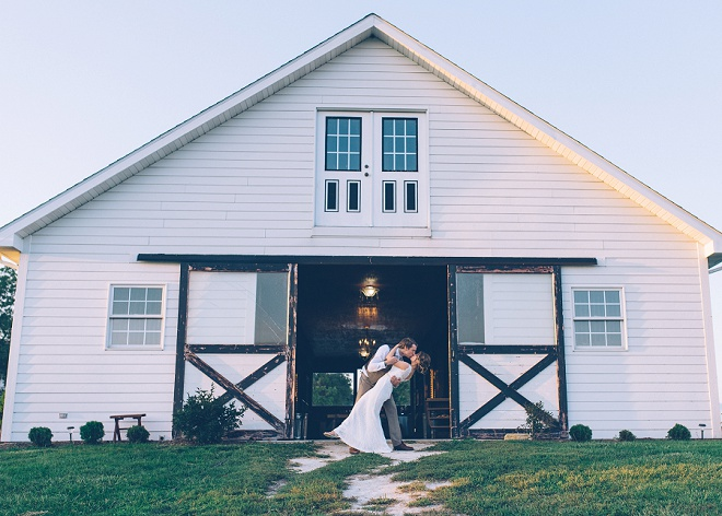 How amazing is this Bride and Groom shot at their barn wedding reception?! Swooning!