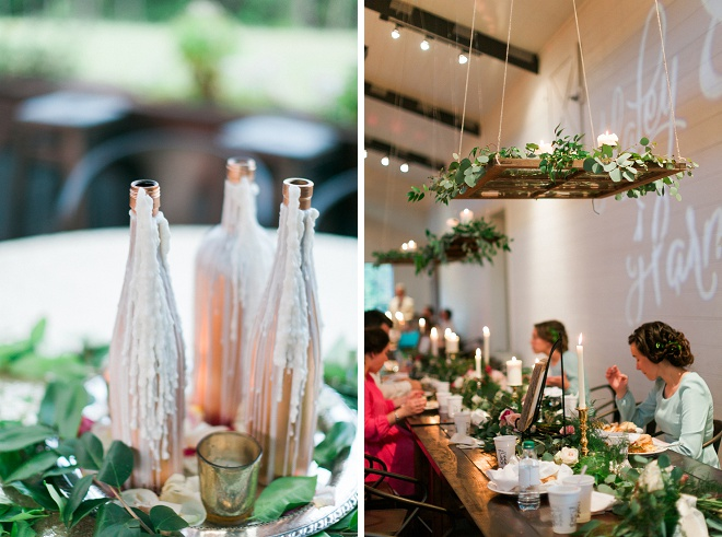 We're loving all of the greenery detail at this boho wedding!