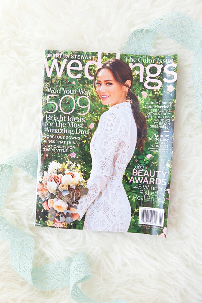 You could win a years subscription to Martha Stewart Weddings from Something Turquoise!