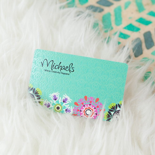 You could win a $50 gift card to Michaels from Something Turquoise!