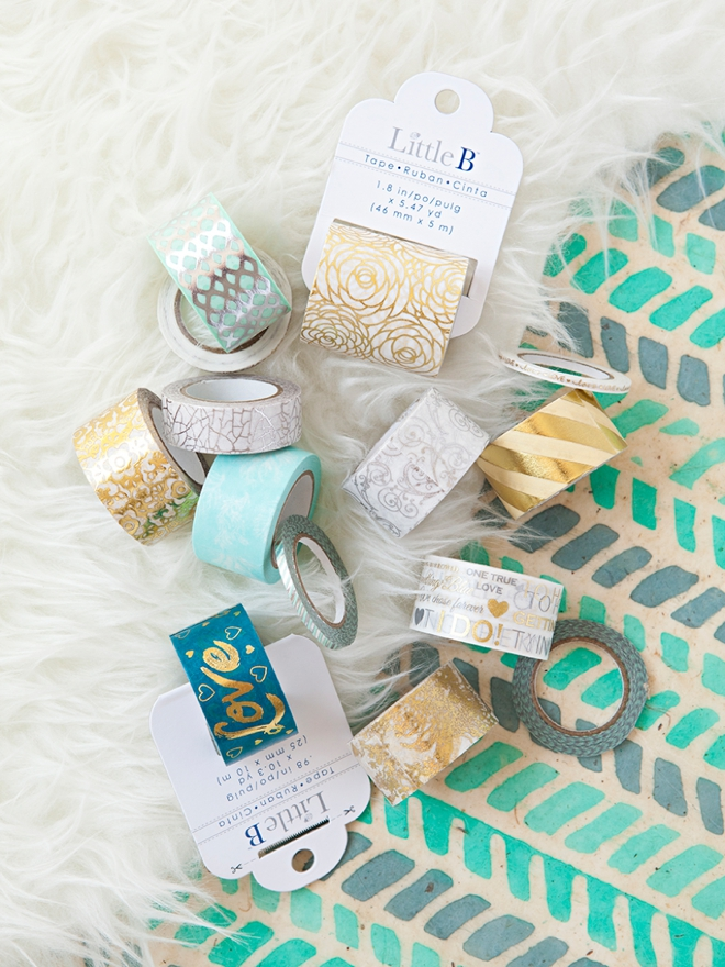 You could win a huge stash of Little B washit tape from Something Turquoise!