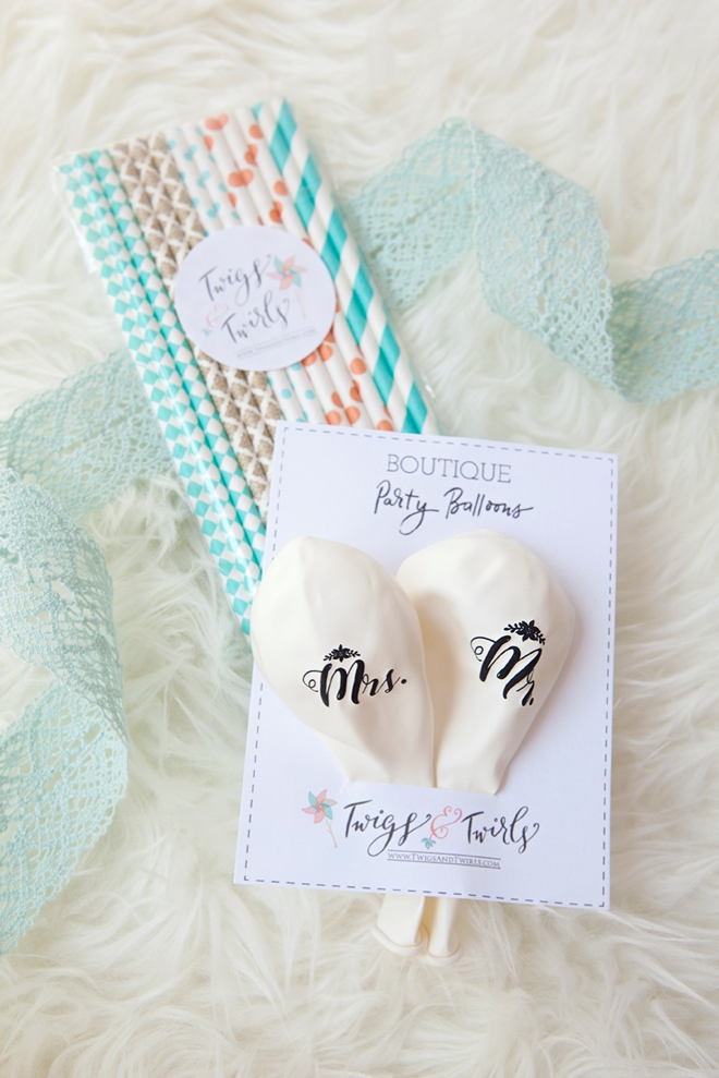 You could win a Twigs & Twirls ballon and straw set from Something Turquoise!