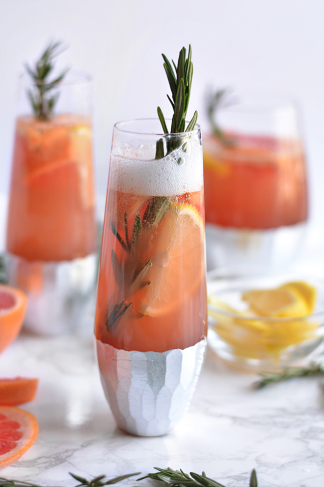 Awesome Bubbly Grapefruit Sangria Recipe