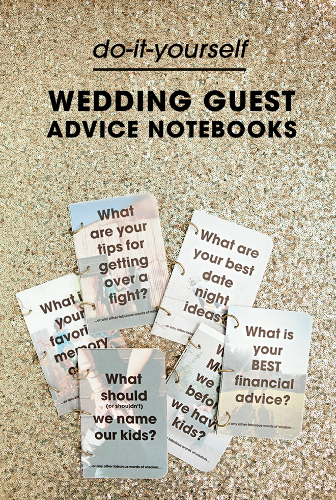 Make these darling wedding guest advice notebooks check out these darling diy wedding guest advice notebooks so cute solutioingenieria Image collections
