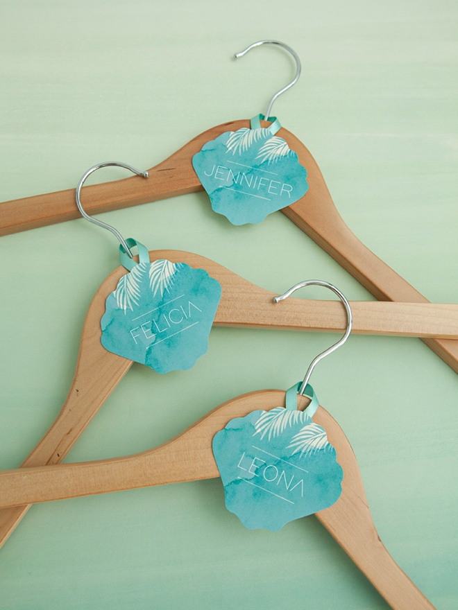 You Must Make These Printable Bridal Party Hanger Tags