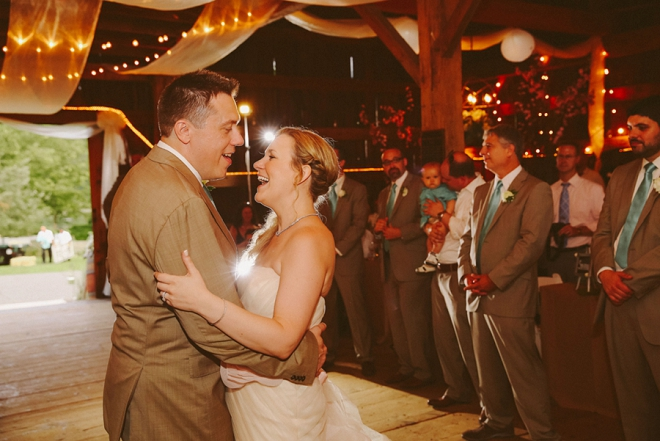 Loving this sweet first dance shot as the new Mr. and Mrs!