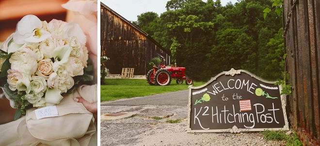 We're swooning over this rustic outdoor New York barn wedding and reception!