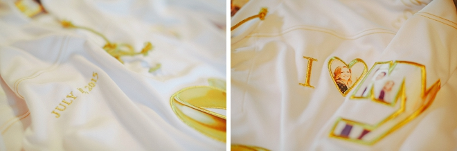 We're loving this Bride's custom getting ready robe! So unique!