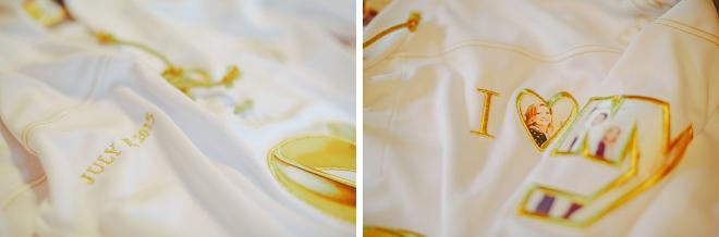 We're loving this Bride's custom getting ready robe! So unique!
