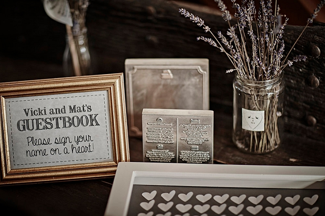 We're loving this darling guest book idea this Bride DIY'd herself!