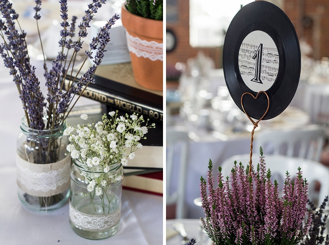 We're loving these record table numbers! Such a great wedding DIY for music lovers!