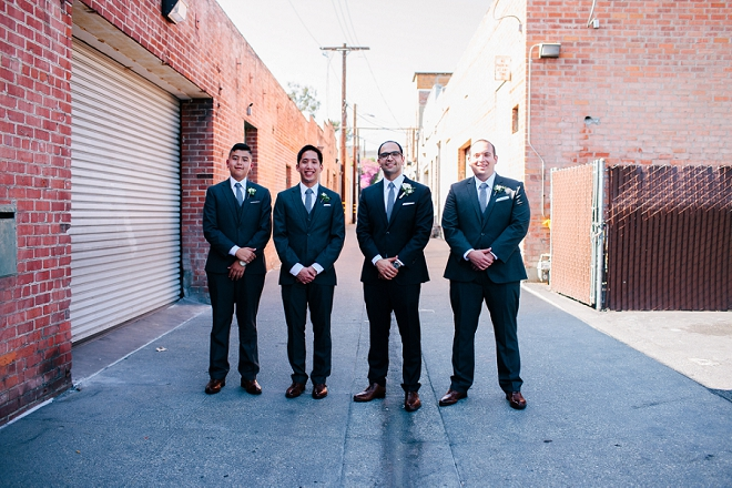 Loving this fun shot of the Groom and his Groomsmen before the big day!
